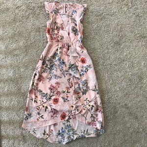 Macy's Faux-Wrap Floral-Print Maxi Dress, Size M